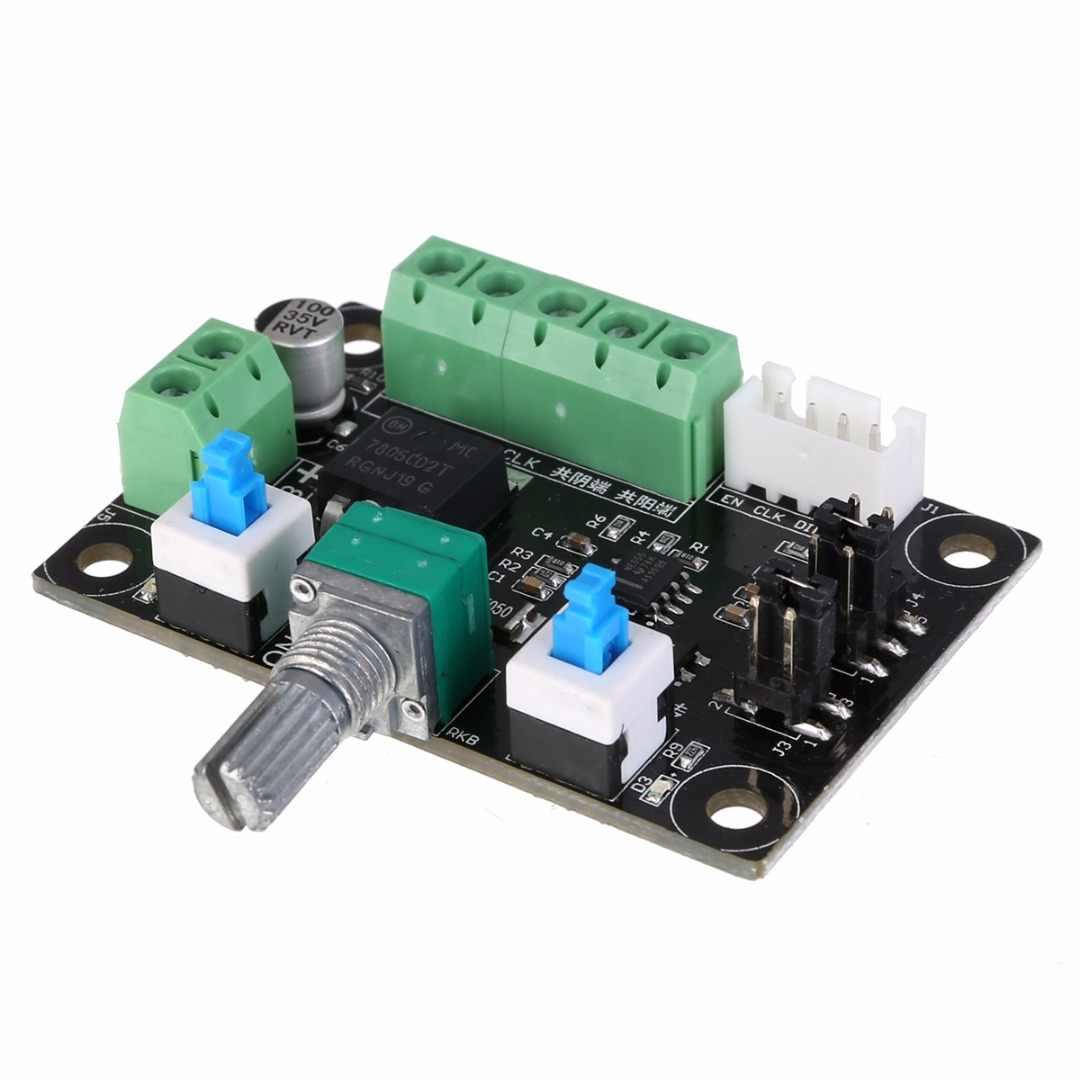 DC 12V 24V Reversible Stepper Motor Speed Regulator Stepping Motor Speed Controller Governor Pulse Signal Controller LED Display