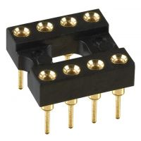 8 pin DIP IC Socket Gold (ενισχυμένο)