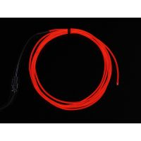 High Brightness Red Electroluminescent (EL) Wire - 2.5 meters