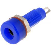 Banana Socket 4mm Blue