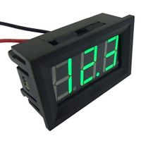 Panel Volt Meter 4.5 - 30V Two Wires - Green 0.56""