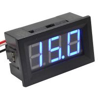 Panel Volt Meter 0-100V Three Wires - Blue 0.56""