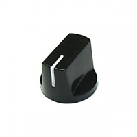 Knob 1510 Plastic Black - 19x14.5mm (Set Screw)