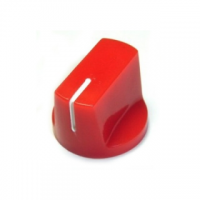 Knob 1510 Plastic Red - 19x14.5mm (Set Screw)