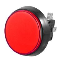 Arcade Flat Push Button 60mm - Red