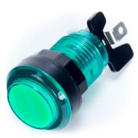 Arcade Push Button Illuminated - Green 33mm (Transparent)