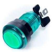 Arcade Push Button Illuminated - Green 33mm (Transparent)