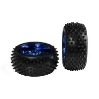 Off-Road Rubber Wheel 85mm Blue (Pack of 2)