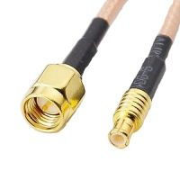 MCX Plug to SMA Male Adapter - 15cm