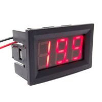 Panel Volt Meter 3.5 - 30V Two Wires - Red 0.56""