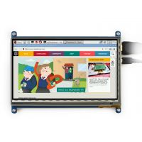 "Pi Display 7"" HDMI 1024x600 IPS Capacitive Touchscreen USB"