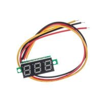 "Panel Volt Meter 0-100V Three Wires - Red 0.28"""