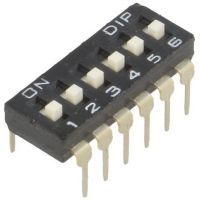 DIP Switch - 6 Position (Low Profile)