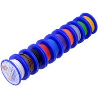 Hook-Up Wire 0.22mm2 - Assortment (Stranded) 10x5m