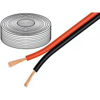 Wire 2x0.5mm2 Black-Red - 10m
