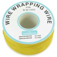 Single Core Wire Wrapping Wire 30AWG / 0.051mm2 - Yellow (1000FT/305M)