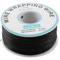 Single Core Wire Wrapping Wire 30AWG / 0.051mm2 - Black (1000FT/305M)