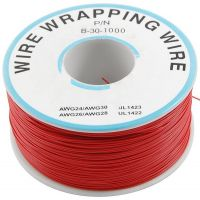 Single Core Wire Wrapping Wire 30AWG / 0.051mm2 - Red (1000FT/305M)