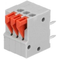Spring Terminals - PCB Mount (3-Pin) 2.54mm Angled