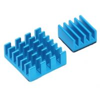 Raspberry Pi Heatsink - Blue (Set of 2)
