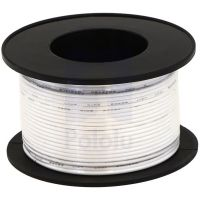 Hook-up Stranded Wire 28AWG / 0.081mm2 - White 27m