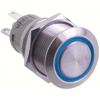 Metal Pushbutton - Momentary (19mm, Blue)