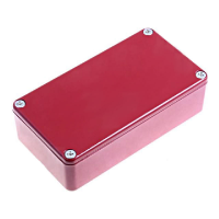 Project Box 112x60x31mm - Aluminium Red