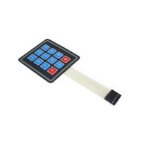 Sealed Membrane 3X4 Button Pad with Sticker