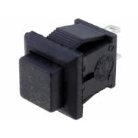 Push Button NC Square 11x13 - Black