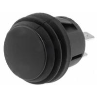 Push Button DPST-NO 20.2mm - Black
