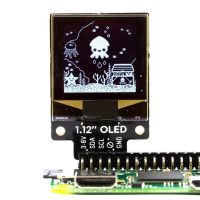 "Pimoroni Breakout Display 1.12"" 128x128 OLED (White-Black)"
