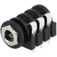Socket for Jack 6.35mm Female Stereo with Switch
