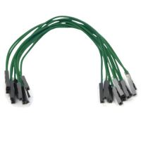 Jumper Wires 15cm Female to Female - Pack of 10 Green