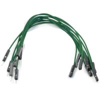 Jumper Wires 15cm Female to Male - Pack of 10 Green