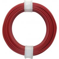 PVC Solid Core Wire 0.20mm2 - Red 10m