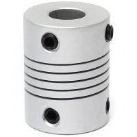 Aluminum Flex Shaft Coupler - 6.35mm to 10mm