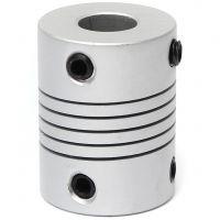 Aluminum Flex Shaft Coupler - 6.35mm to 12mm
