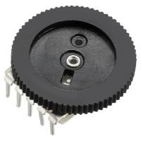 Volume Wheel Potentiometer B10Kohm Stereo - Black