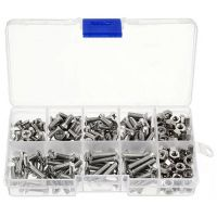 Stainless Steel Bolts & Nuts Assortment Kit M3, M4, M5 - 105pcs
