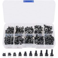 Tact Switch Assortment Kit 6x6mm 4pins - 200pcs