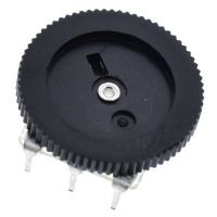 Volume Wheel Potentiometer B10Kohm Mono - Black