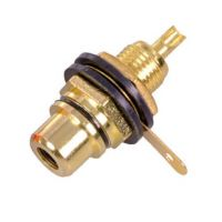 RCA Connector Female Black Gold Plated (Panel Mount)