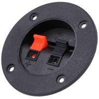 Speaker Terminal Mono - Panel Mount Round 75mm