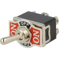 Toggle Switch DP3T ON-OFF-ON (10A/250VAC)
