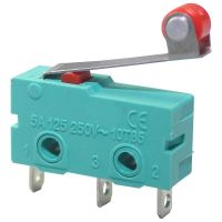 Microswitch Mini SPDT ON-(ON) - with Roller Lever