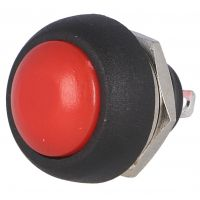 Push Button Momentary - 12mm Red