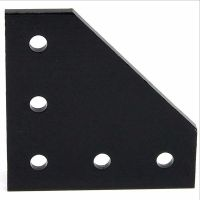 Joining Plate 90° 5 Holes - Black