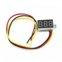 "Panel Volt Meter 3.5-30V Three Wires - Red 0.36"""