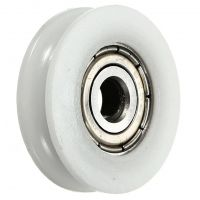 U-Groove Wheel Bearing (5mm Bore, 25mm OD) - White