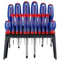 Screwdrivers Set 18pcs with Rack - Workpro